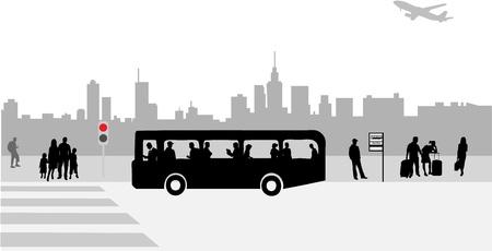 Straat van de stad - het leven van alledag