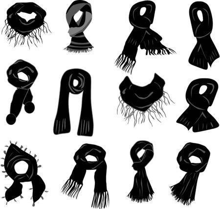 sciarpe: Sciarpe Vettoriali