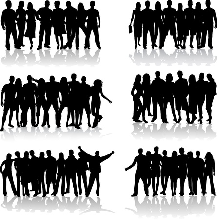 man shadow: Group of people  Illustration