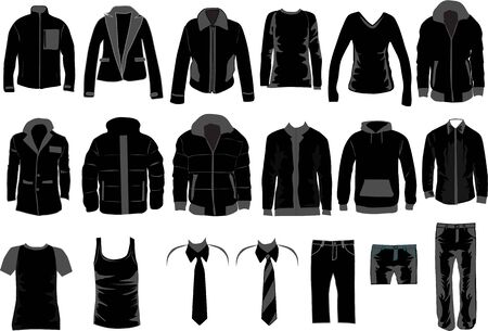 Men Dress Collection , vector work
