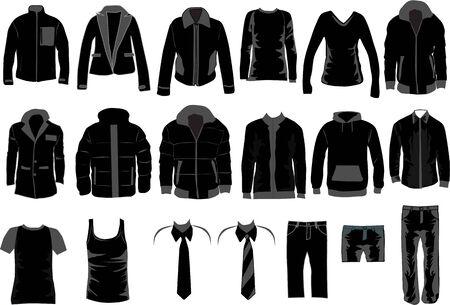 Men Dress Collection , vector work  Vector