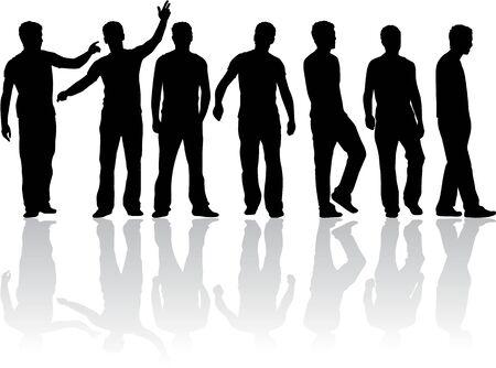 men: silhouette of a man Illustration