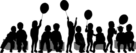 baloon: group of children