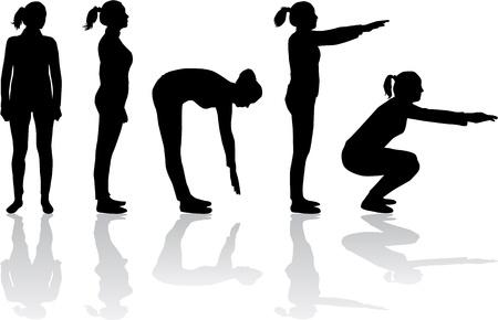 女性のスポーツのシルエット