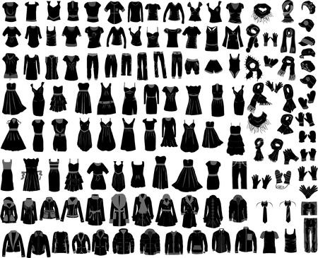 grote verzameling van kleding man vrouw