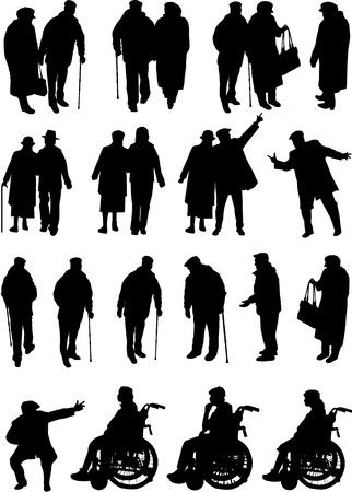 older people Stock Vector - 18685054