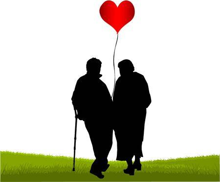 Seniors - the great love  Vector