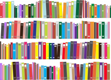 books library: Books - vector illustration