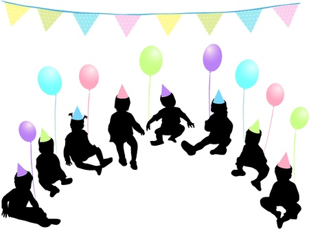 Children's birthday party Vector