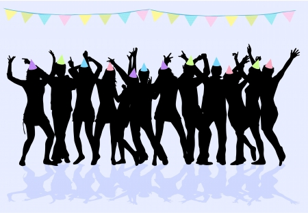 Party - grunge background Stock Vector - 18861828