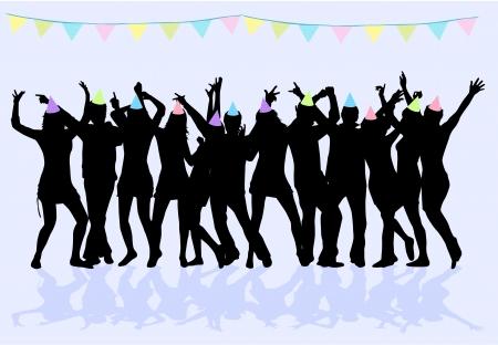 friends talking: Party - grunge background
