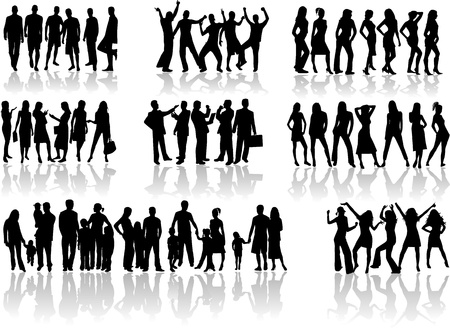 relative: People silhouette