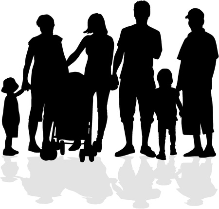 foster: Family silhouette