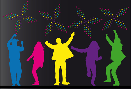 club scene: party people Illustration