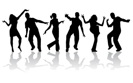 dance shadow: Dancing silhouettes - large collection