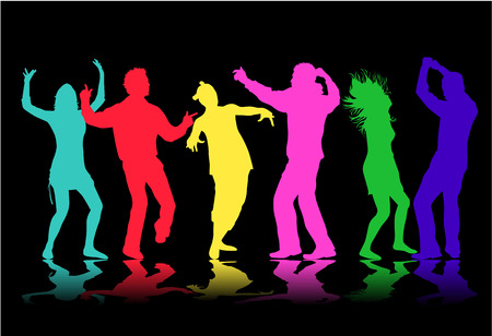 domination: Illustration of people dancing