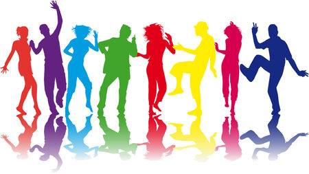 adulation: Illustration of people dancing - Illustration