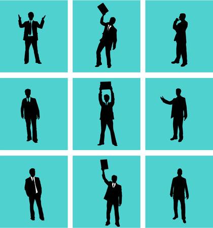 guy standing: Businessman, vectors work