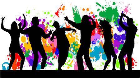 Dansende mensen Stockfoto - 25989504