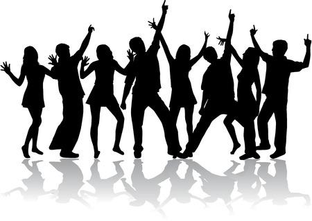 disco dancer: Dancing silhouettes