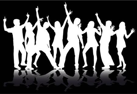 disco dancer: People dancing