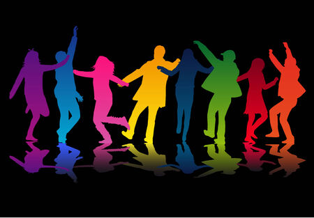 headphones woman: Party People Dancing