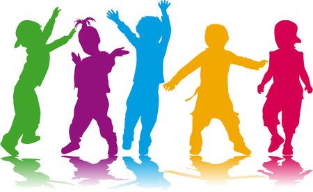 Kinder Silhouetten Standard-Bild - 27157510