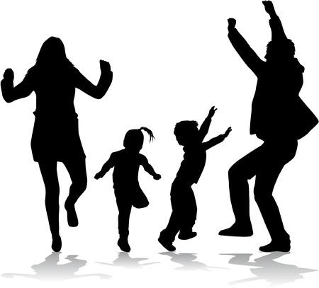 Familie silhouetten