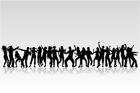 party people: Dancing silhouettes - large collection