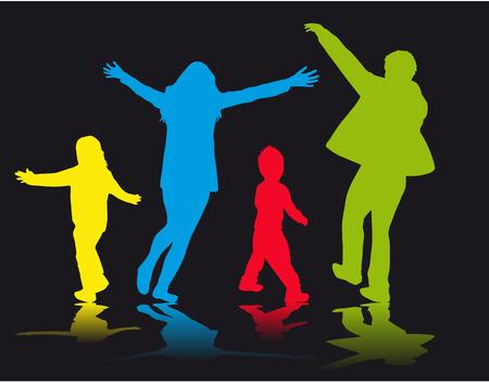 Family Silhouettes - Illustration