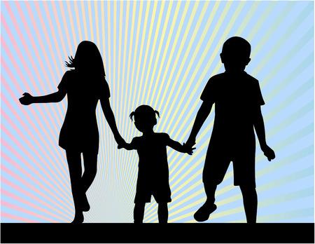 siblings: siblings - silhouettes