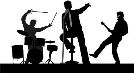 Spelen Concert Stock Illustratie