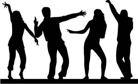 teen boy: Dancing silhouettes