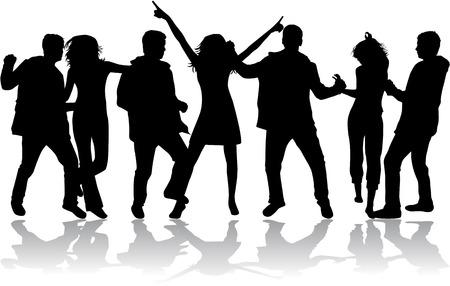 Sagome danzanti Archivio Fotografico - 27920042