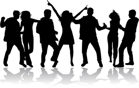 Silhouettes dansantes Banque d'images - 27920042