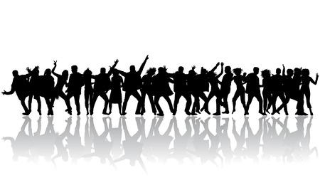 gente bailando: La gente del partido