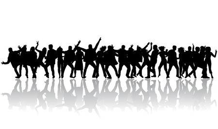 people dancing: Party people Illustration