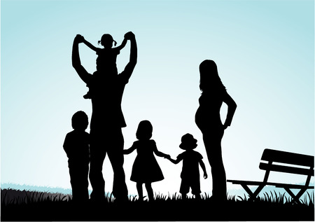 foster: Family silhouettes Illustration
