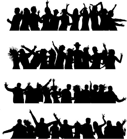 Dancing silhouettes Stock Vector - 27920075