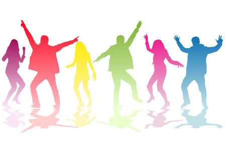 bailarin hombre: Baile de las siluetas de personas