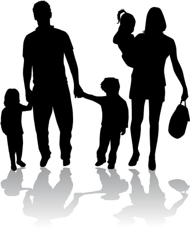 relative: Family silhouettes Illustration