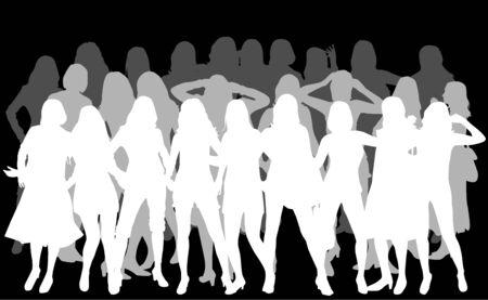 Women silhouettes 向量圖像