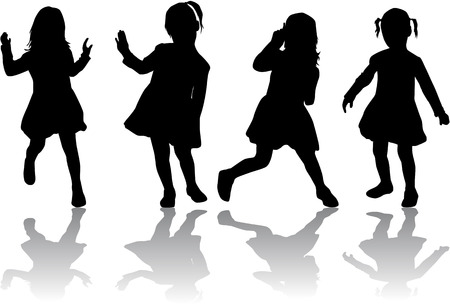 shadow people: group of children