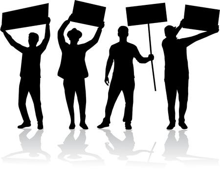 Manifestazione - un gruppo di persone che protestano Archivio Fotografico - 29123711