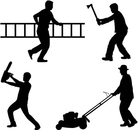 Construction crew Vector