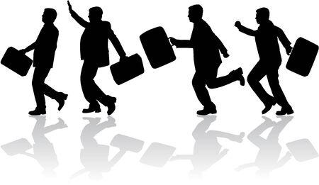 waving hand: Businessman Illustration