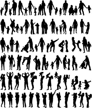 Silhouettes de la famille Banque d'images - 29779541