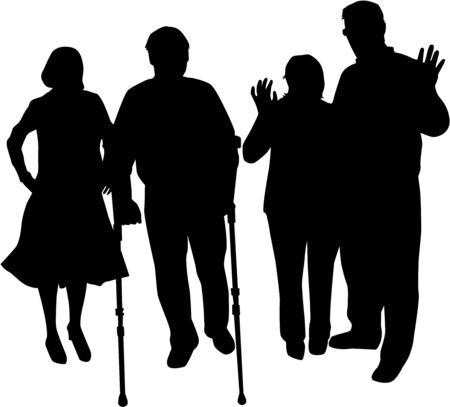 lame: Family silhouettes Illustration