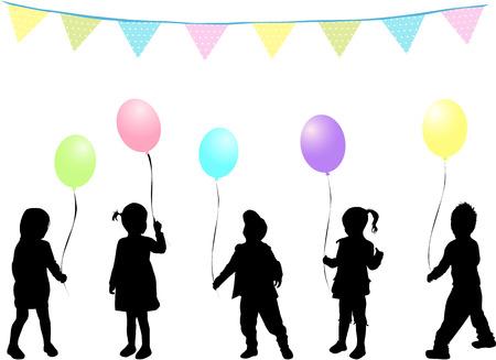 childrens birthday party: Childrens birthday party Illustration