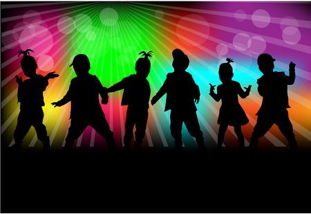 dzieci silhouettes Ilustracje wektorowe